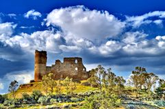Beautiful View of Mazzarino Medieval Castle, Caltanissetta, Sicily, Italy, Europe. Beautiful View of Mazzarino Medieval Castle, Caltanissetta, Sicilian Heritage royalty free stock photography