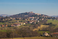 Beautiful view of medieval Castle of Gradara Stock Image