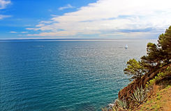 Beautiful view of the Mediterranean Sea, Tossa de Mar, Spain Stock Photos