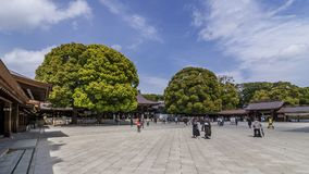 Beautiful view of the Meiji Shinto Shrine in central Tokyo, Japan royalty free stock image