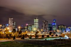 A beautiful view of Melbourne city  with a cloudy sky. Royalty Free Stock Photo