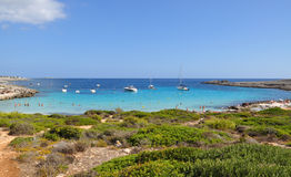 Beautiful view of Menorca island beach - amazing trip to Balearic island in Spain Stock Photos