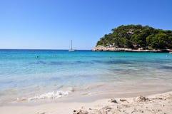 Beautiful view of Menorca island beach - amazing trip to Balearic island in Spain Royalty Free Stock Photography