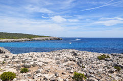 Beautiful view of Menorca island beach - amazing trip to Balearic island in Spain Royalty Free Stock Photos