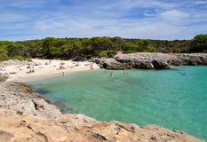 Beautiful view of Menorca island beach - amazing trip to Balearic island in Spain Stock Photos