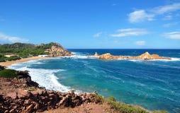 Beautiful view of Menorca island beach - amazing trip to Balearic island in Spain Royalty Free Stock Image