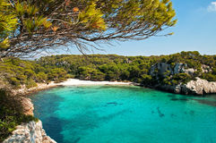 Beautiful view of Menorca, Spain. Isolated beach in Menorca, Spain Royalty Free Stock Image
