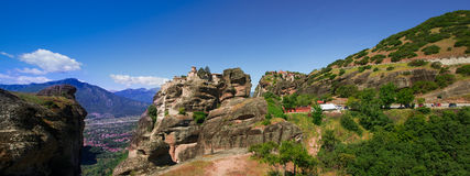 Beautiful view of Meteora, Greece. Beautiful view from Meteora, Greece Royalty Free Stock Images