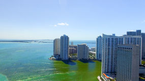Beautiful view of Miami from the air Royalty Free Stock Photo