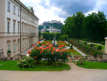 Beautiful view of the Mirabell Gardens Royalty Free Stock Photography