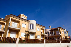 Beautiful view of modern holiday townhouses Royalty Free Stock Photo