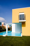 Beautiful view of modern holiday villa Stock Photography