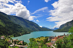 Beautiful view of Molveno lake Stock Photo