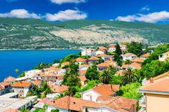 Beautiful view of montenegro city at the seashore Royalty Free Stock Photography