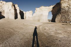 The Beautiful View of Monument Rocks stock photography