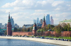 Beautiful view of the Moscow Kremlin, Russia Stock Photography