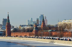 Beautiful view of the Moscow Kremlin, Russia Royalty Free Stock Image