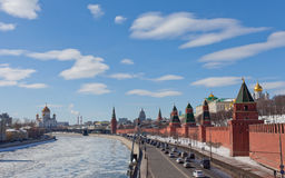 Beautiful view of the Moscow Kremlin Royalty Free Stock Photography