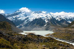 Beautiful view of Mount Cook National Park, South Island, New Zealand royalty free stock photography