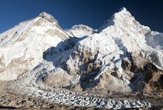Beautiful view of mount Everest, Lhotse and Nuptse Stock Images