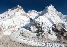 Beautiful view of mount Everest, Lhotse and nuptse Stock Photography