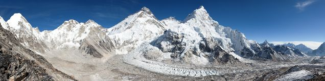 Beautiful view of mount Everest, Lhotse and nuptse Stock Photos