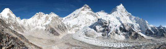 Beautiful view of mount Everest, Lhotse and nuptse Stock Photography