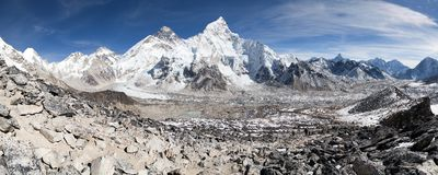Beautiful view of mount Everest Stock Image