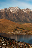 View of Queenstown and The Remarkables in Queenstown New Zealand Stock Image