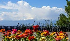 A beautiful view of Mountain Ararat stock image