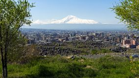 A beautiful view of Mountain Ararat royalty free stock image