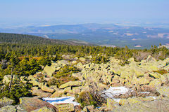 Beautiful view from the mountain Brocken Royalty Free Stock Images