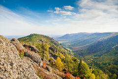 Beautiful view of the mountain gorge Royalty Free Stock Photo