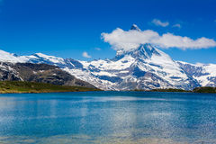 Beautiful view of the mountain lake Royalty Free Stock Photo