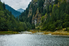 Beautiful view of a mountain lake Stock Photography