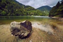 Beautiful view of a mountain lake Royalty Free Stock Photo