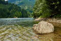Beautiful view of a mountain lake Stock Photos
