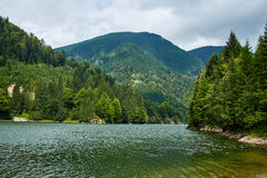 Beautiful view of a mountain lake Stock Images