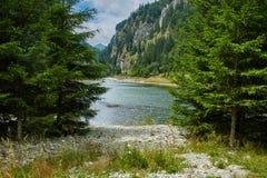Beautiful view of a mountain lake Stock Image