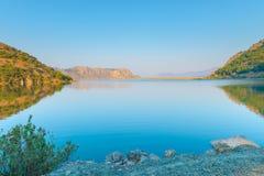 Beautiful view of mountain lake royalty free stock photography