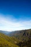 Beautiful view of mountain range in Madeira Island Royalty Free Stock Photography