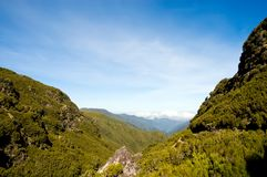 Beautiful view of mountain range in Madeira Island Stock Images