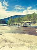 Beautiful view of mountain river in summer Stock Photos