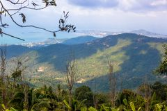 Beautiful view from the mountain in Samui island Stock Images