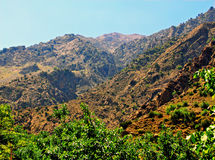Beautiful view of mountains. In sunny day Royalty Free Stock Photography