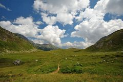 Beautiful view of mountains and clouds. In Ticino, Switzerland stock images