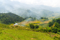 Beautiful View of mountains contain terraced fields Stock Photography