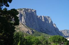 Beautiful view of the mountains. Crimea on a sunny summer day royalty free stock images