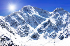 Beautiful view of mountains in the Elbrus area. Stock Image