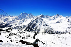 Beautiful view of mountains in the Elbrus area. Stock Images